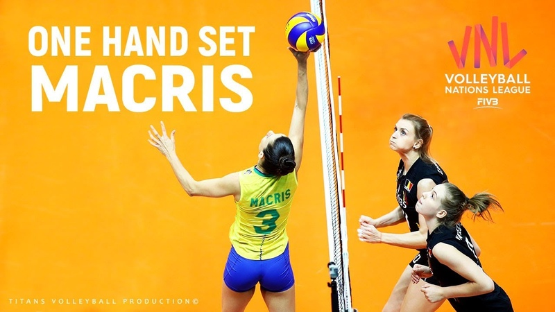 ONE HANDED Volleyball SETS by Macris Carneiro | Women's VNL 2019
