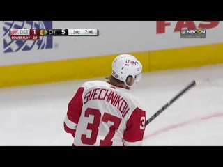 Evgeny Svechnikov's great shot goal vs Blackhawks (2021)