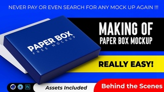 Making of: Paper Box Mockup for Photoshop | REALLY EASY!