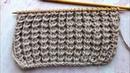 Воздушные столбики спицами Простой эффектный узор Easy Volume knitting pattern