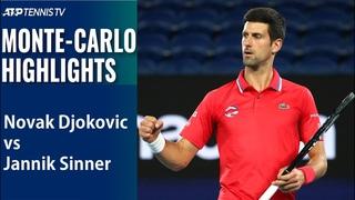 Novak Djokovic vs Jannik Sinner | Monte-Carlo 2021 Highlights Round of 16 (set 1)
