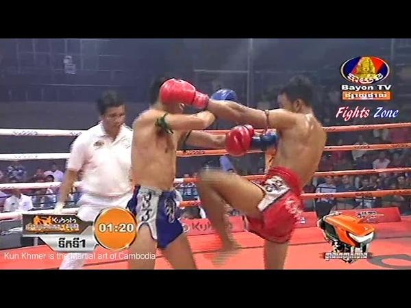 Kun Khmer, Phal Sophorn Vs Thai, Farnimith, Bayon boxing, 22 June 2018, Knockout | Fights Zone