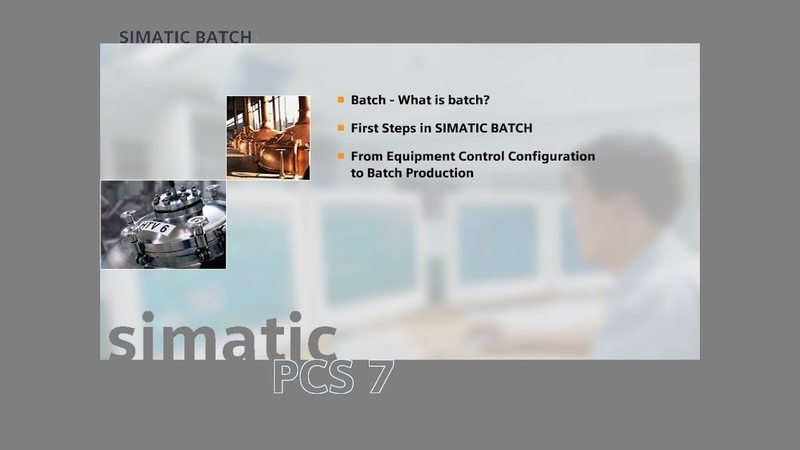 02 - SIMATIC BATCH - Origin of Batch Production The Kitchen