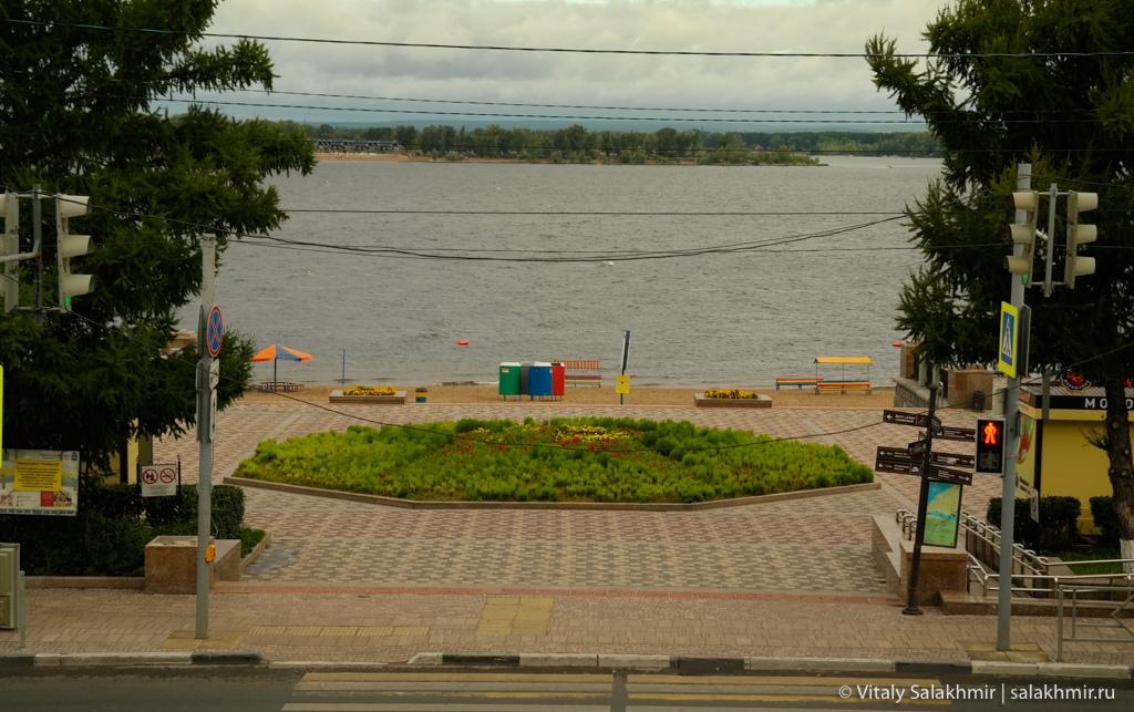 Вид на Волгу, Самара 2020