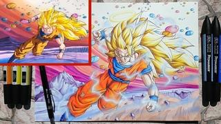 Goku SSJ3 vs Janemba Scene  Drawing   ADC Remastered Episode 2