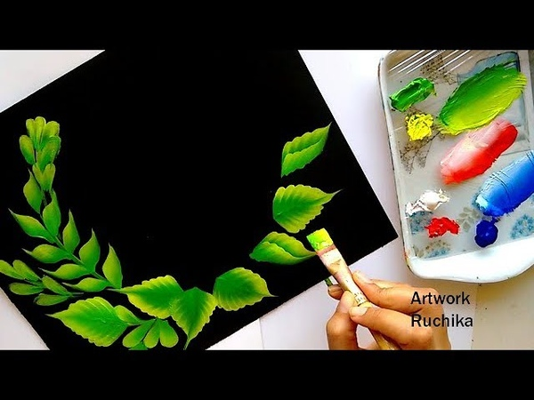 Beautiful Decorative Flower Painting   Easy One Stroke Painting   Acrylic Painting Tutorial