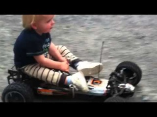 18 Month old riding a Baja 5B Flux Fastest and biggest RC car on the Planet.