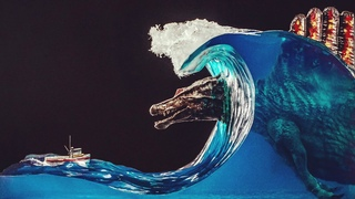 🦖 A huge spinosaurus in the thick of an epoxy wave // SUBNAUTICA // Godzilla will be the next