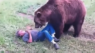 Парень попал в аварию и оказался на обочине, на его стоны вышел медведь, то что он сделал невероятно