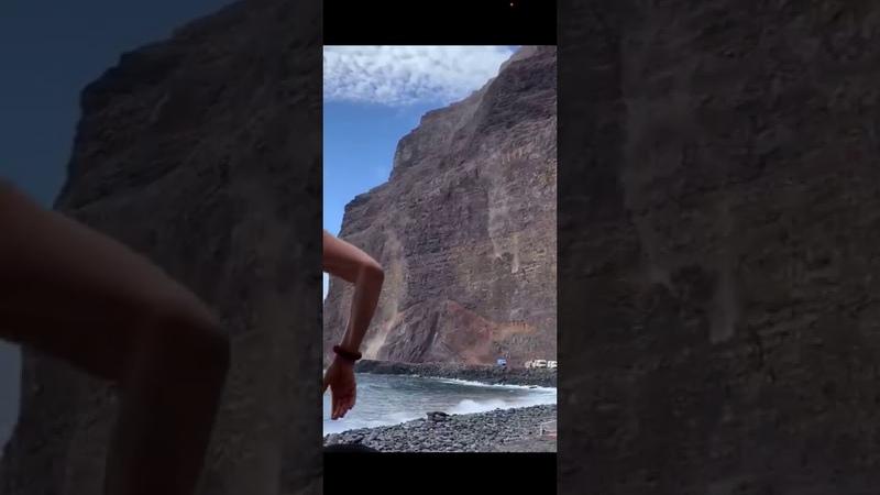 La Gomera Valle Gran Rey Vueltas Finca Berg Rutsch 2020 11 14