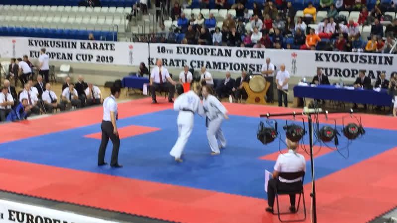 18 European Open Karate Championship. 8.12.2019, Минск. Щербакова Екатерина финал