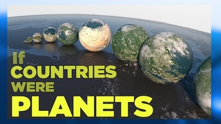 If COUNTRIES were PLANETS ▬ (SURFACE AREA) 🗺 [3D]
