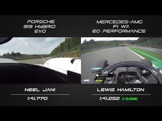 LMP1 vs F1 (Update  2020!)¦ Porsche 919 Hybrid EVO vs Mercedes F1 W11  @Spa-Franchorchamps