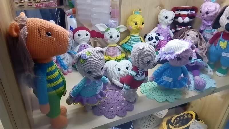 Вязаные игрушки Полки