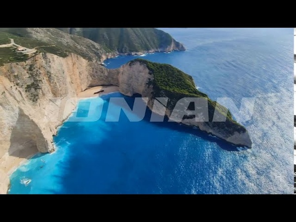 Ζάκυνθος Άντεξε το Ναυάγιο τον Ιανό Μοναδικά πλάνα από ελικόπτερο πάνω από την διάσημη παραλία