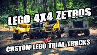 LEGO 42129 4x4 Zetros VS Custom LEGO Trial Trucks