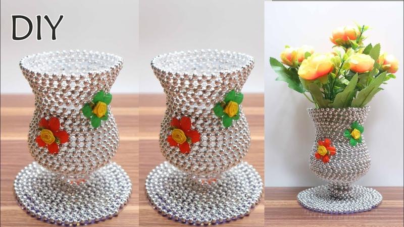 Ide Kreatif Vas Bunga dari Botol Bekas Fanta dan CD DVD bekas | Kreasi botol bekas