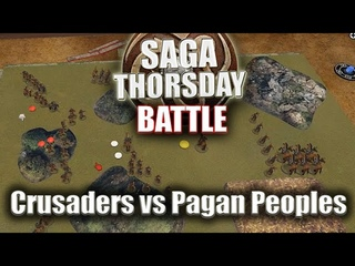 SAGA THORSDAY - Baltic Crusaders vs Pagan Peoples Battle Report - Back of the Book Campaign Game 3