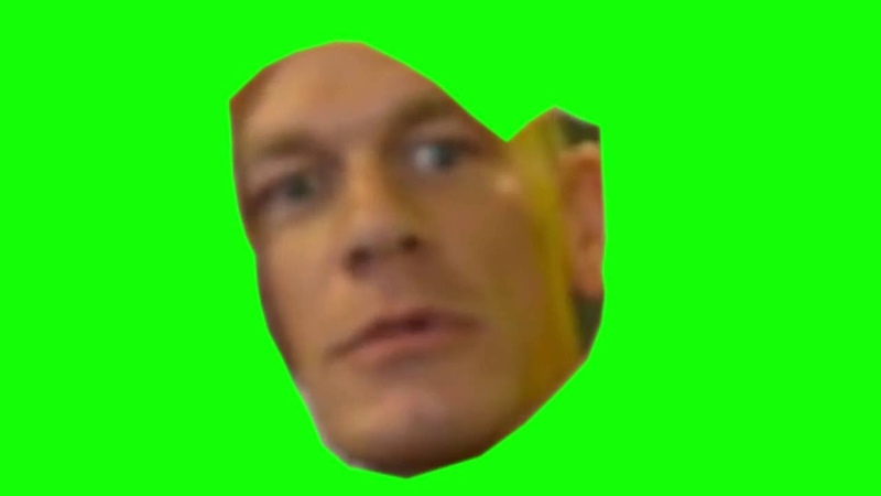 John Cena are you sure about that GREENSCREEN
