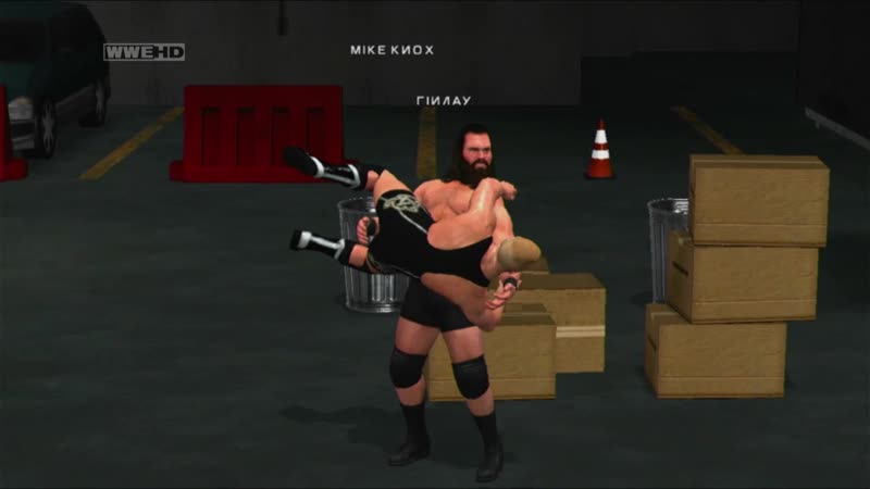WWE SmackDown vs Raw 2011 Mike Knox vs Finlay Монстр Майк Кнокс против мудака Финли За кулисами Качество 11DeadFace