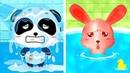 Bebé Panda's Hora Del Baño - Lindo Animales Tomar Una Ducha Y Jugar | Juegos Infantiles