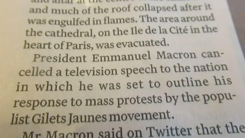 Notre Dame hoe Marcron zijn presidentschap probeert te redden