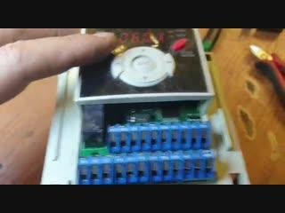 КИПлаб ремонт частотного преобразователя LS(Lg) SV015iG5A-4 видио отчет