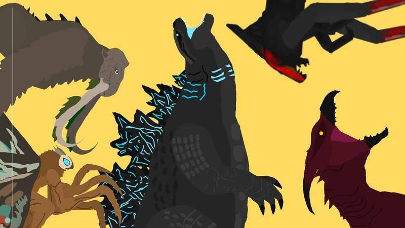 Годзилла убить монстров часть 1 Godzilla kill monsters part 1 dc2 At2
