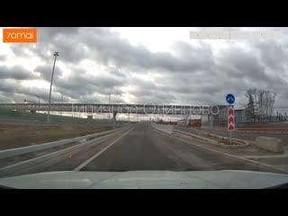 Проезд по Внуковской эстакаде (декабрь 2019)