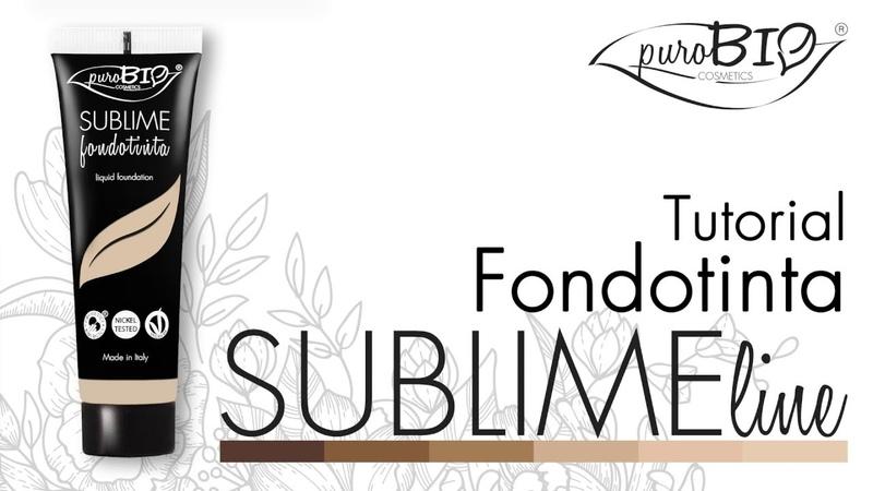 Tutorial SUBLIME Fondotinta - puroBIO cosmetics (ENG subtitle) (FR sous-titres)