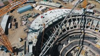 НОВАЯ АРЕНА В ОМСКЕ: МОНТАЖ КРЫШИ | Строительство «Арены Омск» | Новый дом Авангарда