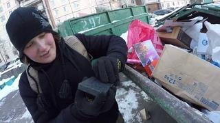 Поиск находок на мусорках в СПБ, челюсти, звонок покупателя с Авито, фарфор