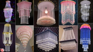 19 STUNNING CHANDELIER... DIY PEARLS WALL HANGING THAT WILL MAKE YOUR HOME UNIQUE