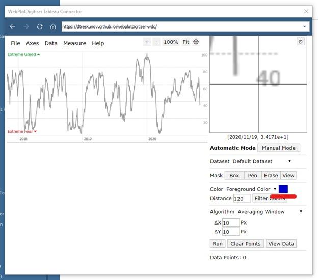 Извлечение данных из графиков при помощи Tableau Web Data Connector (WDC) на примере анализа индекса страха и жадности (Fear and Greed Index), изображение №16