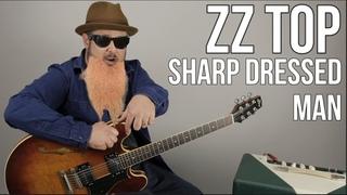 ZZ Top Sharp Dressed Man Guitar Lesson + Tutorial