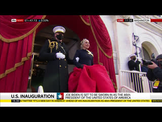 Lady Gaga sing the National Anthem at Joe Biden's inauguration