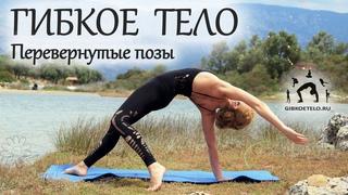 Гимнастика. ГИБКОЕ ТЕЛО за 30 минут + ПЕРЕВЕРНУТЫЕ ПОЗЫ / Динамическое вытяжение ног и спины