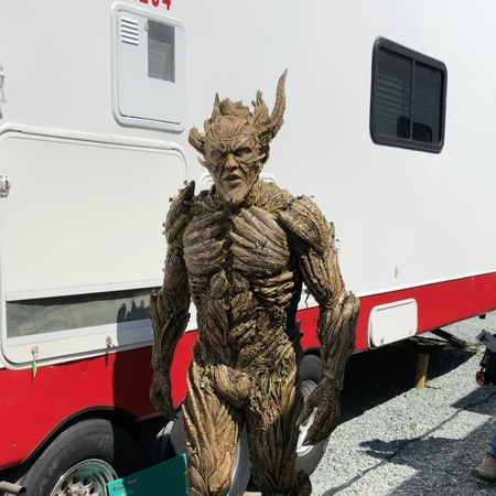 """Kevin Kirkpatrick on Instagram """"@thekevindurand geared up as Floronic Man for DCs Swamp Thing series. All prosthetics created @fracturedfxinc Applied by myself and…"""""""