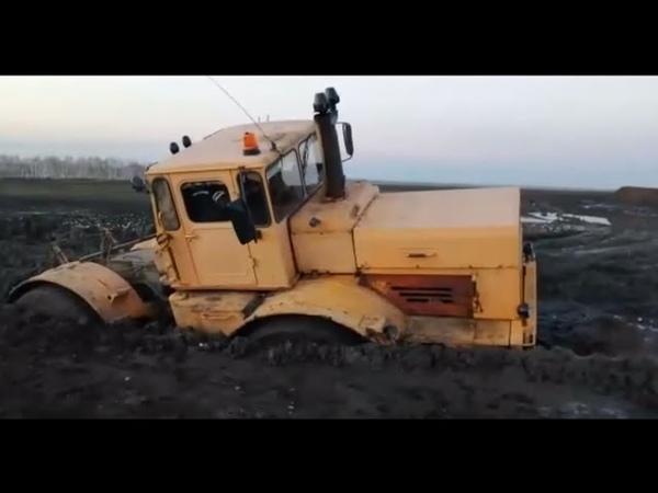 Трактор Кировец Гряземес Пытаемся добраться до скважины Вытаскиваю Камаз