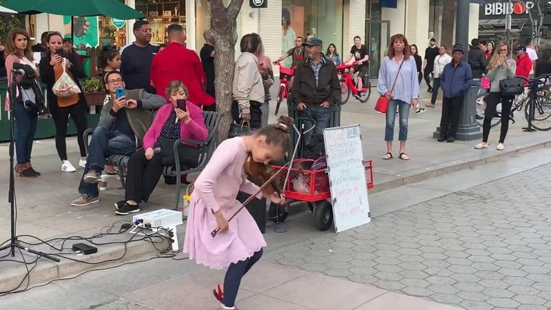 Rockabye feat Sean Paul Anne Marie Karolina Protsenko Violin Street Performance