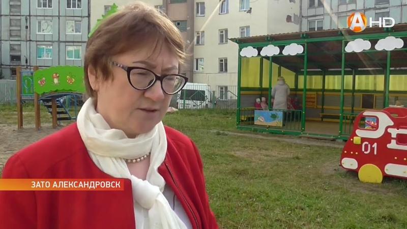 В детских садах Александровска появляются новые яркие веранды