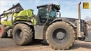 Claas Xerion 5000 Black Edition mit KAWECO DOUBLE TWIN SHIFT Gülle fahren 2018 LU Meyer Bösel
