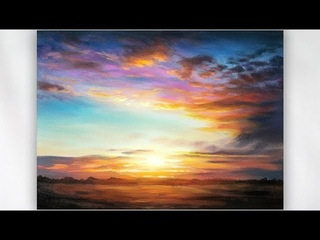 Painting a Realistic Sunset in Acrylics