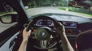 2021 BMW M3 Competition - POV Night Drive (Binaural Audio)