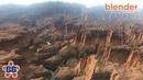 Blender Terrain - Quick Pre-vis Canyon Desert Environment in EEVEE (and Cycles) [Blender 2.8]