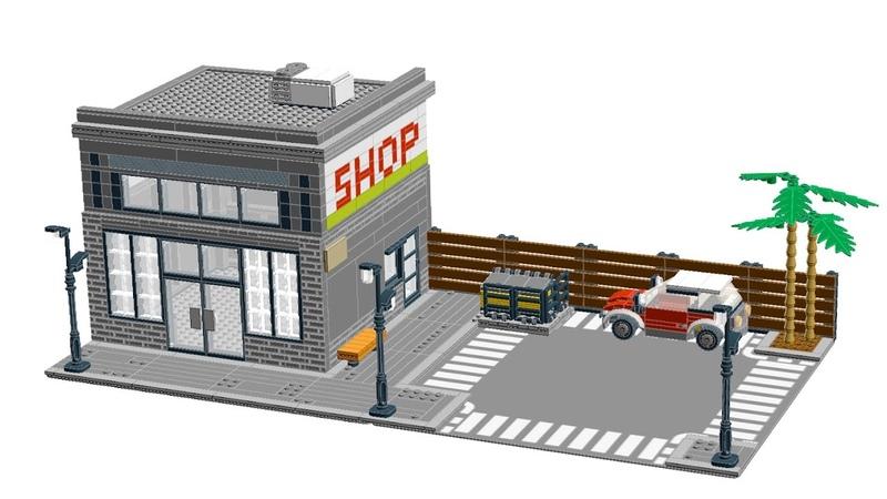 How to make CUSTOM LEGO MODULAR BUILDING STREET SHOP! full tutorial!