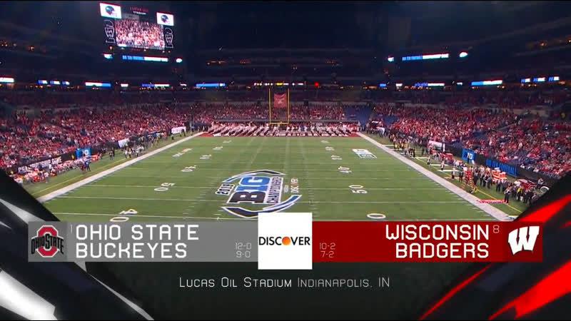 NCAAF 2019 / Week 15 / Big Ten Championship / (1) Ohio State Buckeyes - (8) Wisconsin Badgers / 1H / EN