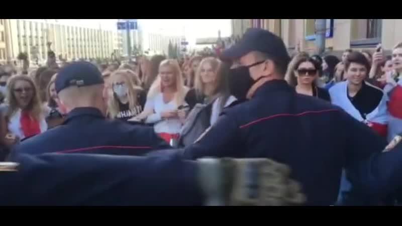 Крик банши на протестах в Беларуси