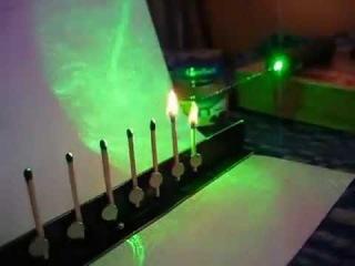 Мощный 1000 mW Лазер зажигает спички