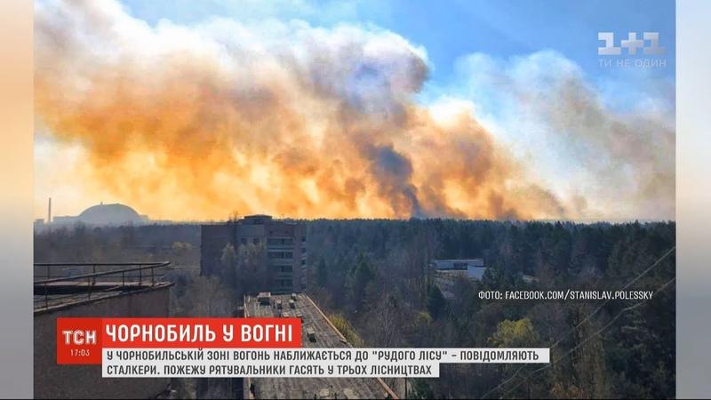 Вогонь у Чорнобильській зоні підходить до так званого Рудого лісу - сталкери